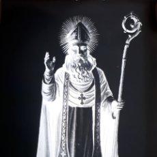 Postales: ANTIGUO CLICHÉ DE FRAY JERONIMO HERMOSILLA SANTO DOMINGO DE LA CALZADA LA RIOJA NEGATIVO EN CRISTAL. Lote 182811432