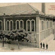 Postales: LOGROÑO FABRICA DE TABACOS. ED. LIBRERIA MODERNA. FOTOTIPIA CASTAÑEIRA Y ALVAREZ. SIN CIRCULAR. Lote 182898378