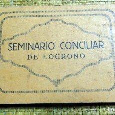 Postales: BLOCK COPLETO, 25 POSTALES, SEMINARIO CONCILIAR LOGROÑO, PERFECTO ESTADO. Lote 183252221
