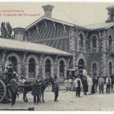 Postales: POSTAL LOGROÑO ESTACION DEL FERROCARRIL LIBRERIA MODERNA ANTIGUA , P883. Lote 183813733
