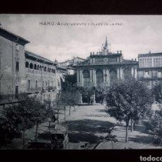 Postales: HARO AYUNTAMIENTO Y PLAZA DE LA PAZ , LA RIOJA. Lote 186372091