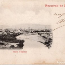 Postales: LOGROÑO. VISTA GENERAL. Lote 190464232
