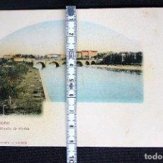 Postales: LOGROÑO-PUENTE DE PIEDRA-HIJOS DE ALESON. Lote 192276692
