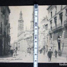 Postales: LOGROÑO-CALLE DEL MERCADO-HIJOS DE ALESON. Lote 192491421