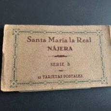 Postales: BLOC( 12 POSTALES ) SANTA MARIA LA REAL. NAJERA. SERIE B. Lote 194215821