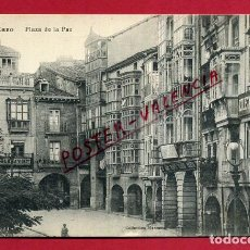 Postales: POSTAL LA RIOJA LOGROÑO HARO PLAZA DE LA PAZ ORIGINAL P89929. Lote 198516865