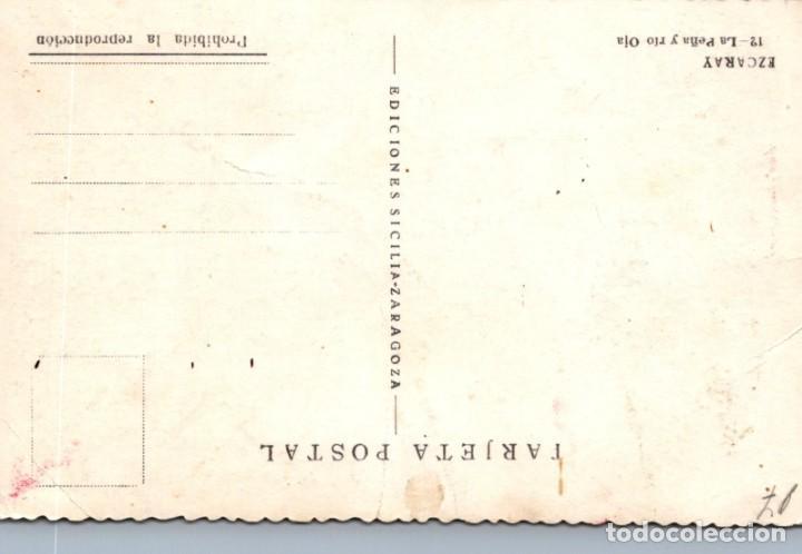 Postales: POSTAL DE EZCARAY (LA RIOJA) ED. SICLIA - LA PEÑA Y RIO OJA Nº 12 - Foto 2 - 198589003