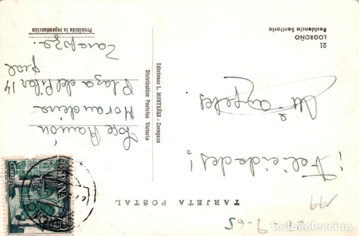 Postales: postal LOGROÑO RESIDENCIA SANITARIA ED. L MONTAÑES 21 - Foto 2 - 199705515