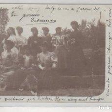 Postales: POSTAL FOTOGRÁFICA CABEZÓN DE CAMEROS LOGROÑO. CIRCULADA. MUJERES VESTIDAS PARA FIESTA.. Lote 204813236