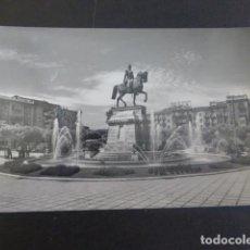 Postales: LOGROÑO LA RIOJA PASEO DEL ESPOLON MONUMENTO AL GENERAL ESPARTERO Y FUENTE. Lote 205279131