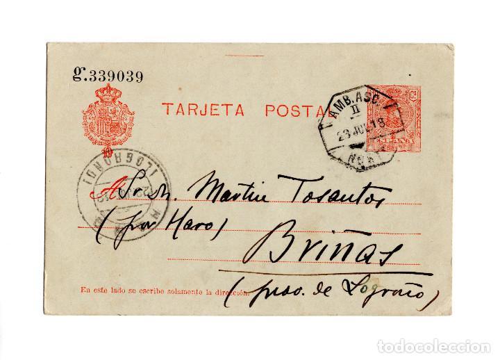HARO.(LOGROÑO).- ENTERO POSTAL CIRCULADO EN 1918. (Postales - España - La Rioja Antigua (hasta 1939))