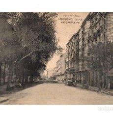 Postales: TARJETA POSTAL LOGROÑO. CALLE DE CANALEJAS. HIJOS DE ALESON. AÑO 1918. Lote 209210122