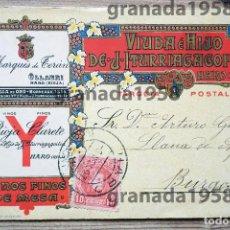 Postales: POSTAL COMERCIAL VIUDA E HIJO DE J. ITURRIAGAGOITIA. HARO. LA RIOJA. HERMENEGILDO MIRALLES.1907. Lote 209840093