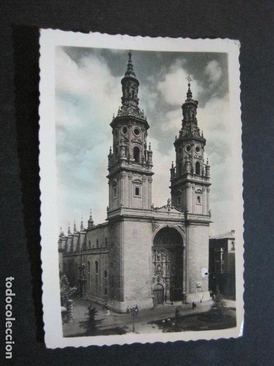 Postales: LOGROÑO-COLEGIATA DE SANTA MARIA DE LA REDONDA-ARRRIBAS EDICIONES-81-POSTAL ANTIGUA-(72.134) - Foto 2 - 209959250