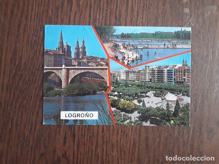 POSTAL DE ESPAÑA, DIFERENTES VISTAS DE LOGROÑO. (Postales - España - La Rioja Antigua (hasta 1939))