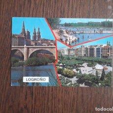 Postales: POSTAL DE ESPAÑA, DIFERENTES VISTAS DE LOGROÑO.. Lote 211632201