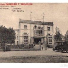 Postales: TARJETA POSTAL GRAND HOTEL. LOGROÑO. VISTA GENERAL. PHOTO ART. R. SAUS. AÑO 1915. Lote 213595015