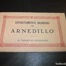 Postales: 12 TARJETAS POSTALES DEL ESTABLECIMIENTO BALNEARIO DE ARNEDILLO LA RIOJA - BLOCK RECUERDO POSTAL. Lote 216593005