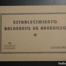 Postales: BALNEARIO ARNEDILLO.(LOGROÑO).- BLOCK 10 TARJETAS POSTALES, ESTABLECIMIENTO BALNEARIO DE ARNEDILLO. Lote 216924841