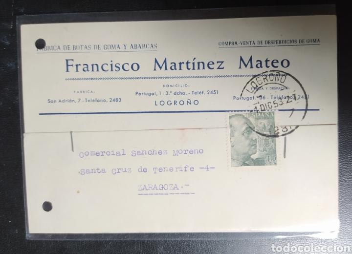 LOGROÑO, MARTÍNEZ MATEO, PUBLICITARIA, BOTAS Y ABARCAS (Postales - España - La Rioja Antigua (hasta 1939))