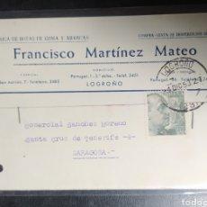 Postales: LOGROÑO, MARTÍNEZ MATEO, PUBLICITARIA, BOTAS Y ABARCAS. Lote 218123418