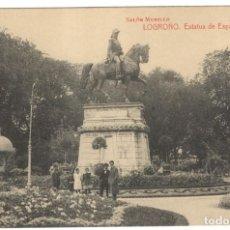 Postales: POSTAL - LOGROÑO. ESTATUA DE ESPARTERO - SALÓN MURILLO.. Lote 219239853