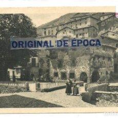 Postales: (PS-63768)POSTAL DE LOGROÑO-VISTA DE LA PLAZA DE ORTIGOSA DE CAMEROS.PUBLICIDAD REVERSO. Lote 219411443