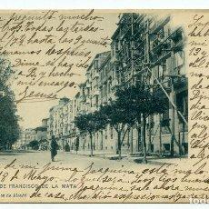 Postales: LOGROÑO. MURO DE FRANCISCO DE LA MATA II SERIE Nº 4 HIJOS DE ALESÓN. HAUSER Y MENET, CIRCULADA. Lote 219516703