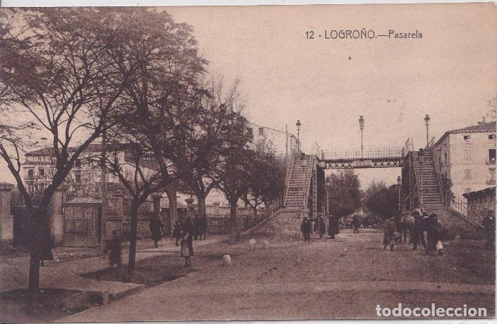 LOGROÑO (LA RIOJA) - PASARELA (Postales - España - La Rioja Antigua (hasta 1939))