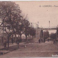 Postales: LOGROÑO (LA RIOJA) - PASARELA. Lote 223035583