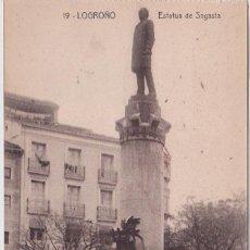 Postales: LOGROÑO (LA RIOJA) - ESTATUA DE SAGASTA - IMPRENTA MODERNA. Lote 223035948