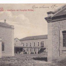 Postales: LOGROÑO INTERIOR HOSPITAL MILITAR. ED. LIBRERIA MODERNA FOTPIA. CASTAÑEIRA Y ALVAREZ. CIRCULADA. Lote 228022630