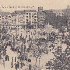 Postales: LOGROÑO PASEO PRINCIPE DE VERGARA. ED. HIJOS DE ALESON. SIN CIRCULAR. Lote 228022985