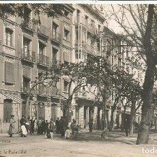 Postales: (PS-64086)POSTAL FOTOGRAFICA DE LOGROÑO-CALLE DE LA ESTACION.LIBRERIA HIJOS DE ALESON. Lote 228173935