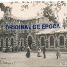 Postales: (PS-64087)POSTAL FOTOGRAFICA DE LOGROÑO-ESTACION DE FERROCARRIL.LIBRERIA HIJOS DE ALESON. Lote 228174075