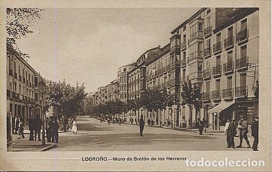 X124747 LA RIOJA LOGRONO MURO DE BRETON DE LOS HERREROS (Postales - España - La Rioja Antigua (hasta 1939))