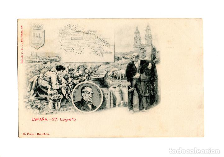 LOGROÑO.- Nº 27. REGIONES DE ESPAÑA. (Postales - España - La Rioja Antigua (hasta 1939))