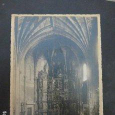 Postales: LOGROÑO A. MURO FOTOGRAFO POSTAL FOTOGRAFICA INTERIOR DE IGLESIA HACIA 1915. Lote 235223120