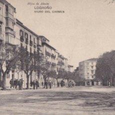 Postais: LOGROÑO, MURO DEL CARMEN. ED. HIJOS DE ALESON, HAUSER Y MENET. CIRCULADA EN 1910. Lote 235578200