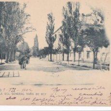 Postais: LOGROÑO, CALLE DEL GENERAL VARA DE REY. ED. HIJOS DE ALESON. REVERSO SIN DIVIDIR. CIRCULADA EN 1902. Lote 236821445