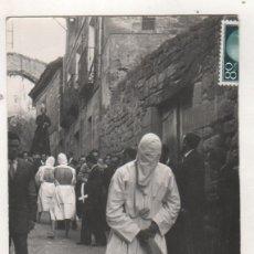 Postales: SEMANA SANTA LOS PICAUS. SAN VICENTE DE LA SONSIERRA FOTO IMPERIO. CIRCULADA EN 1962 RIOJA. Lote 240854315