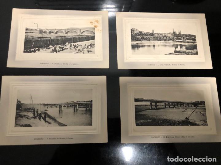 4 POSTALES LOGRONO ALREDEDOR DE 1910 (Postales - España - La Rioja Antigua (hasta 1939))