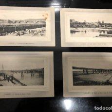 Postales: 4 POSTALES LOGRONO ALREDEDOR DE 1910. Lote 241957955