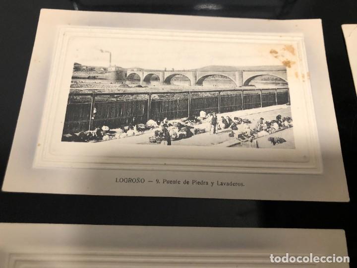 Postales: 4 POSTALES LOGRONO ALREDEDOR DE 1910 - Foto 2 - 241957955