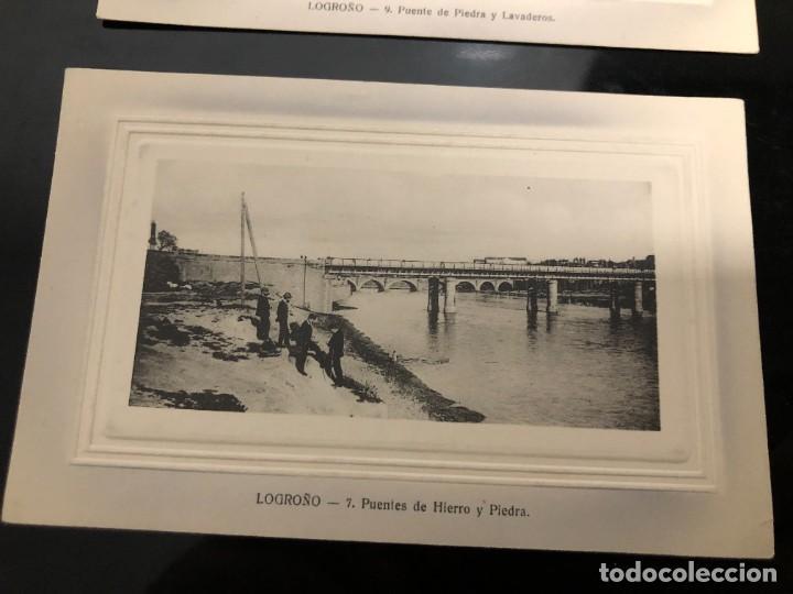 Postales: 4 POSTALES LOGRONO ALREDEDOR DE 1910 - Foto 3 - 241957955