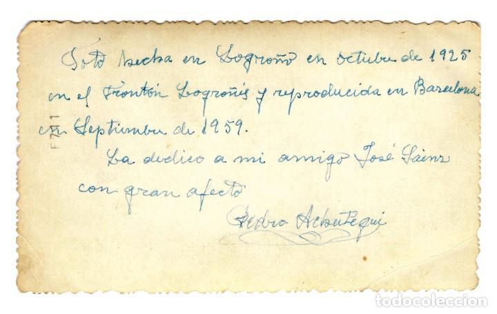 Postales: Logroño - Frontón Logroñés 1925 - 138x87 - Única - Inédita en Todocolección - Foto 2 - 251485360