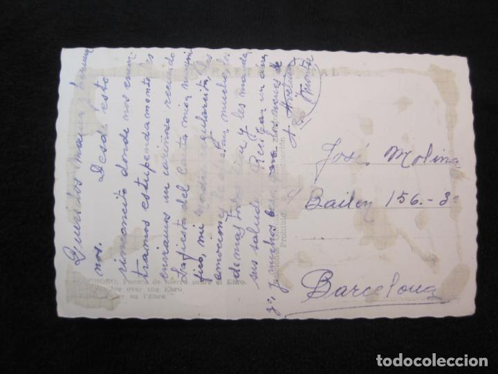 Postales: LOGROÑO-PUENTE DE HIERRO SOBRE EL EBRO-ED·GARCIA GARRABELLA-POSTAL ANTIGUA-(79.678) - Foto 4 - 254267905