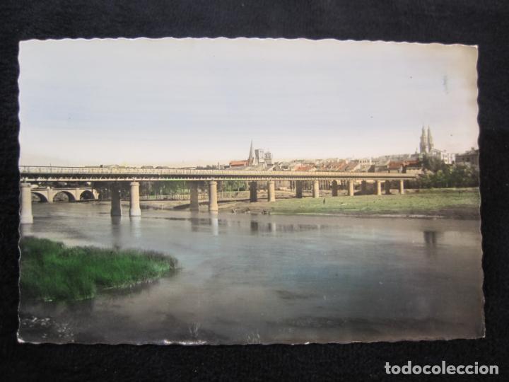 LOGROÑO-PUENTE DE HIERRO SOBRE EL EBRO-ED·GARCIA GARRABELLA-POSTAL ANTIGUA-(79.678) (Postales - España - La Rioja Antigua (hasta 1939))