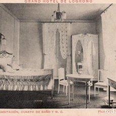 Postales: GRAND HOTEL DE LOGROÑO. 4 HABITACIÓN. Lote 255362865