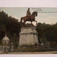 Postales: LOGROÑO - ESTATUA DEL GENERAL ESPARTERO - P50363. Lote 257349075